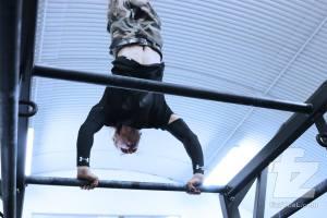 High bar handstand